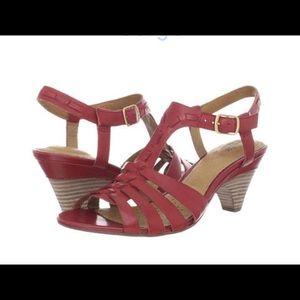 318a4b140233 Clarks Shoes - NIB Clarks Artisan Red Sandals 5.5